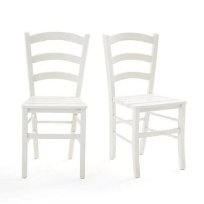 chaises blanche la redoute