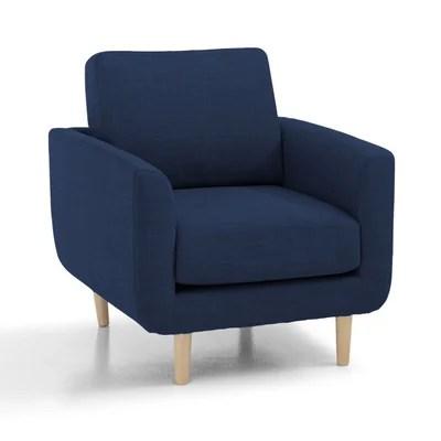 fauteuil bleu nuit la redoute