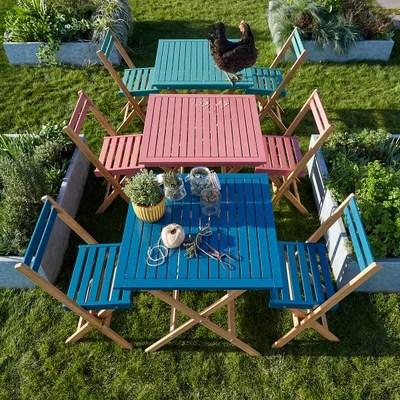 salon de jardin en palette la redoute
