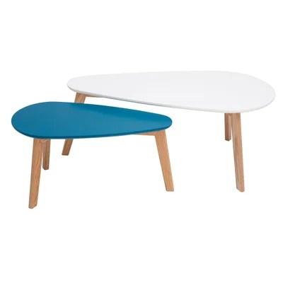 table basse scandinave bleu la redoute