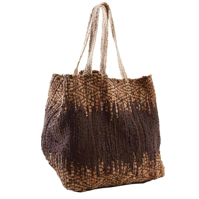 sac de rangement en jute et cuir aubry gaspard