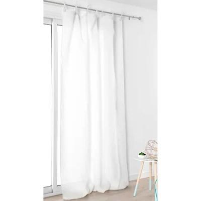 rideaux voilage blanc avec la ruflette