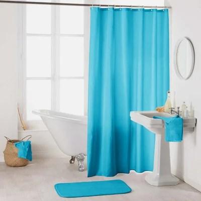 rideau bleu turquoise et gris la redoute