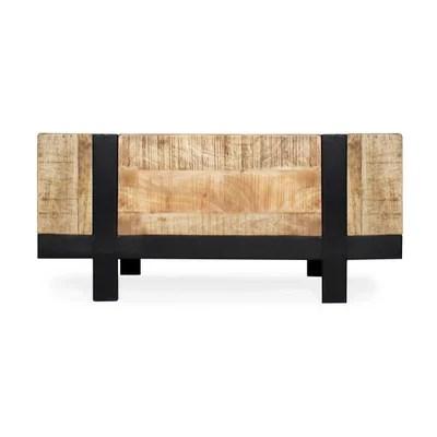 table salon bois et fer la redoute