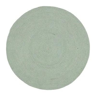 tapis rond vert la redoute