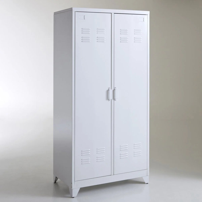 armoire metal blanc la redoute