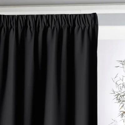 double rideau noir la redoute