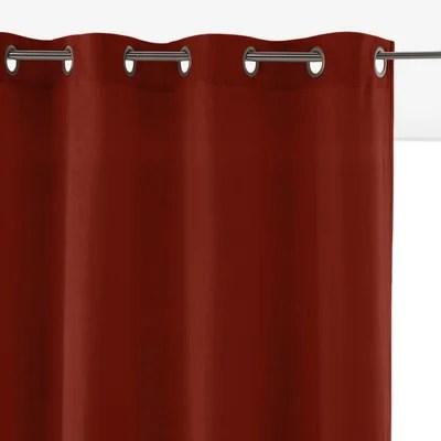 rideaux velours rouge la redoute