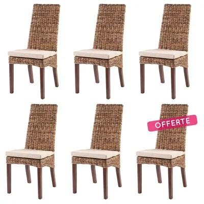 lot de 6 chaises design la redoute