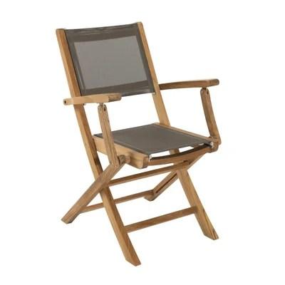 chaise de jardin avec accoudoir la