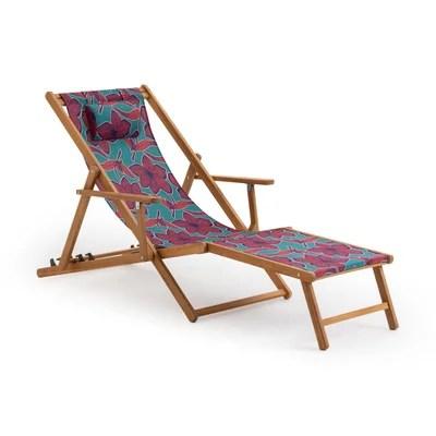 chaise longue transat la redoute