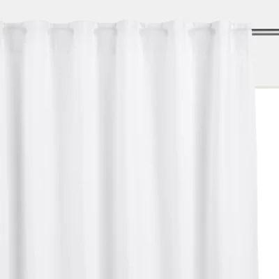 rideaux coton lin blanc la redoute