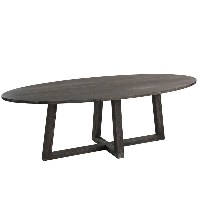 table ovale bois binalong by j line table ovale bois binalong by j line