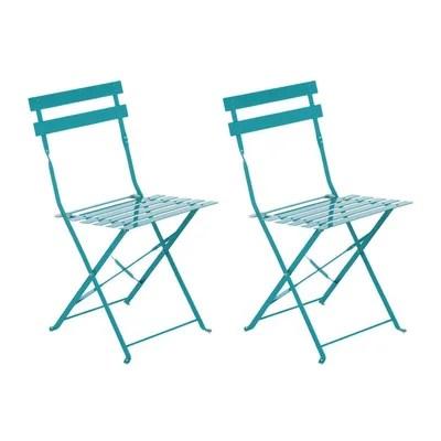 chaises jardin metal laque la redoute
