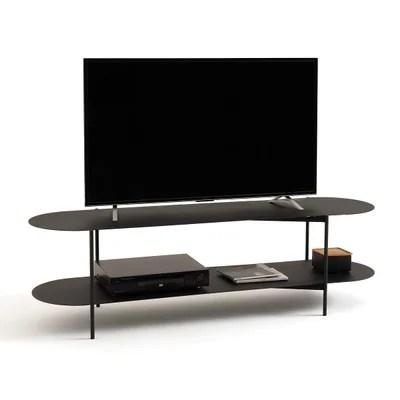 meuble tv fer noir la redoute