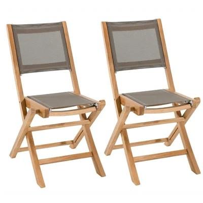 lot chaise de jardin la redoute
