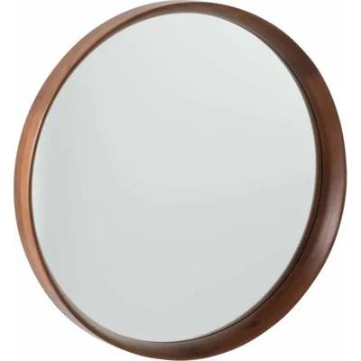 miroir rond bois la redoute