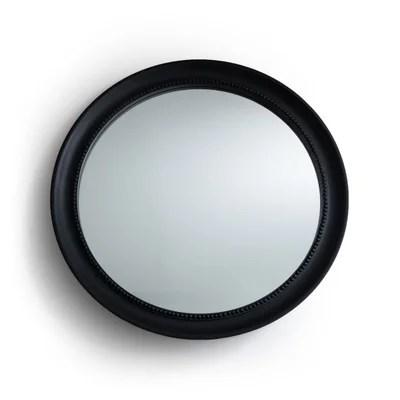 miroir mural rond noir la redoute