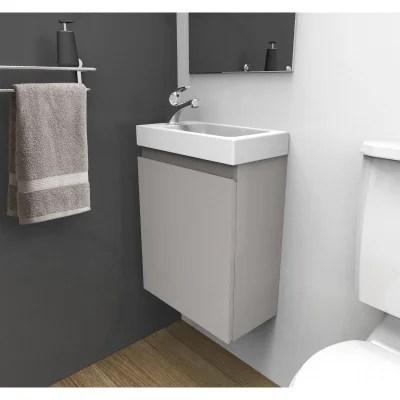 meuble salle de bain bois gris la redoute