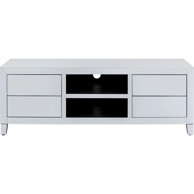 meuble tv gris et blanc la redoute