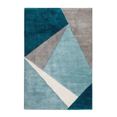 tapis shaggy bleu la redoute