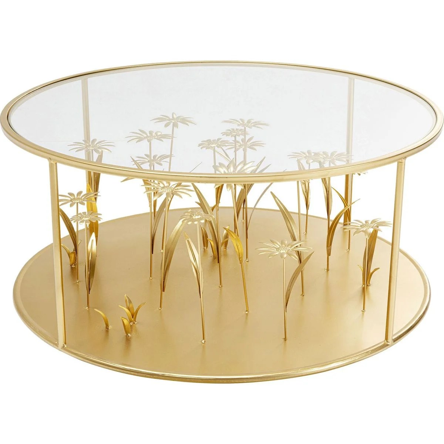 table basse metal or la redoute