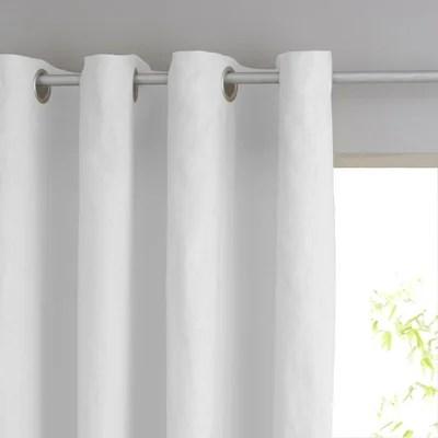 double rideaux gris et blanc la redoute