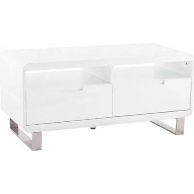 meuble tv design blanc et bois la redoute