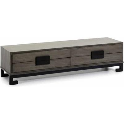 meuble tv gris la redoute