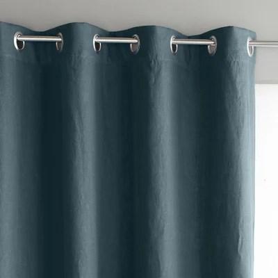 double rideaux bleu la redoute