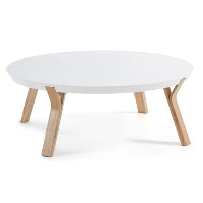 table basse blanc et gris la redoute