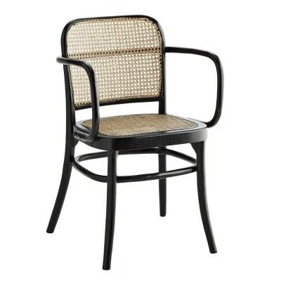 chaise en bois avec accoudoir la redoute