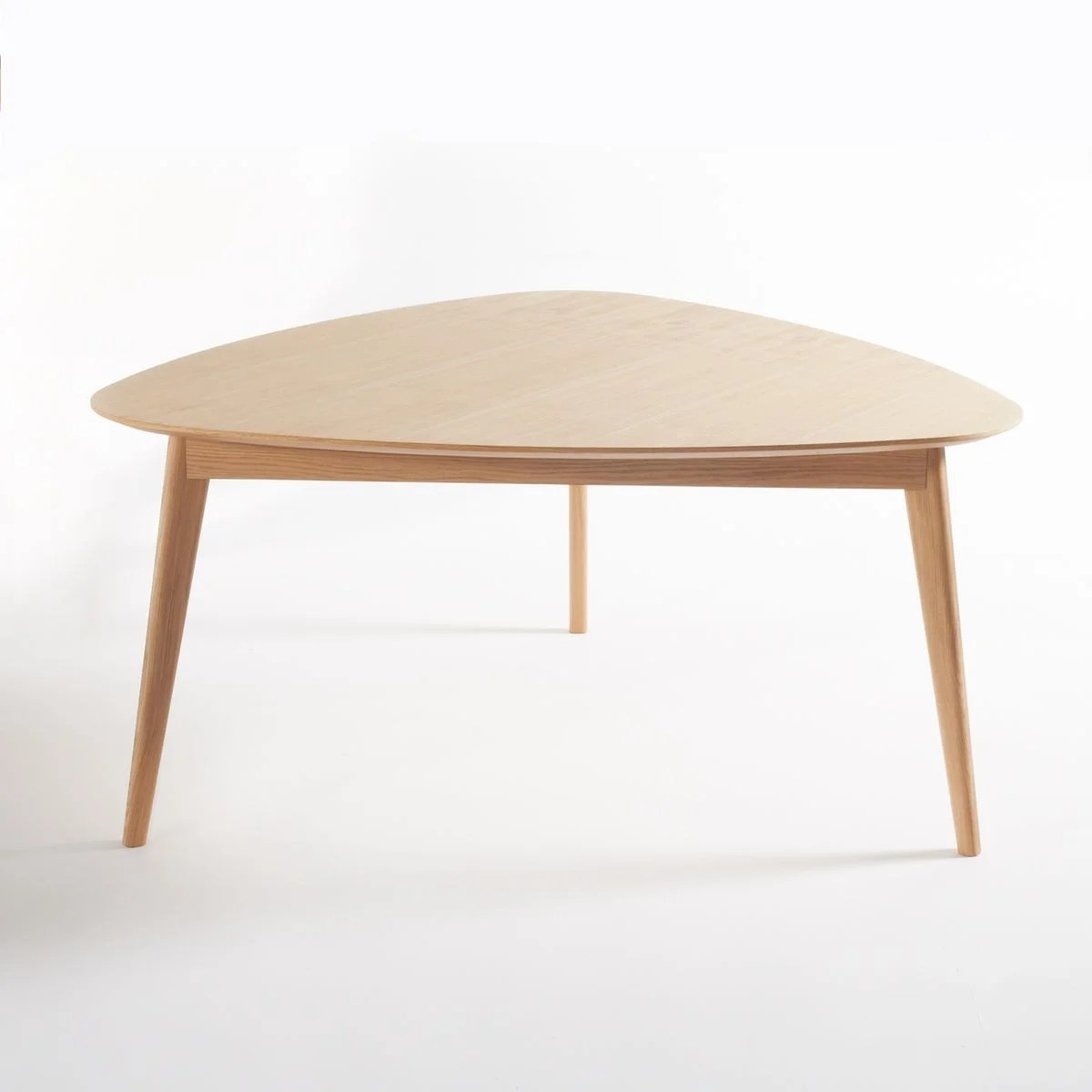 table a manger triangulaire chene 6 couv biface