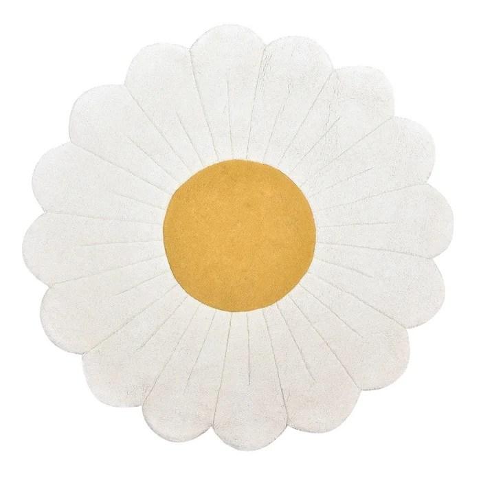 tapis enfant 100 coton fleur de camomille