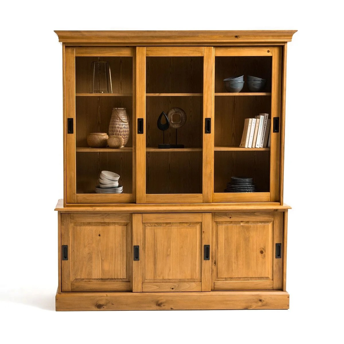 buffet vaisselier pin massif authentic style