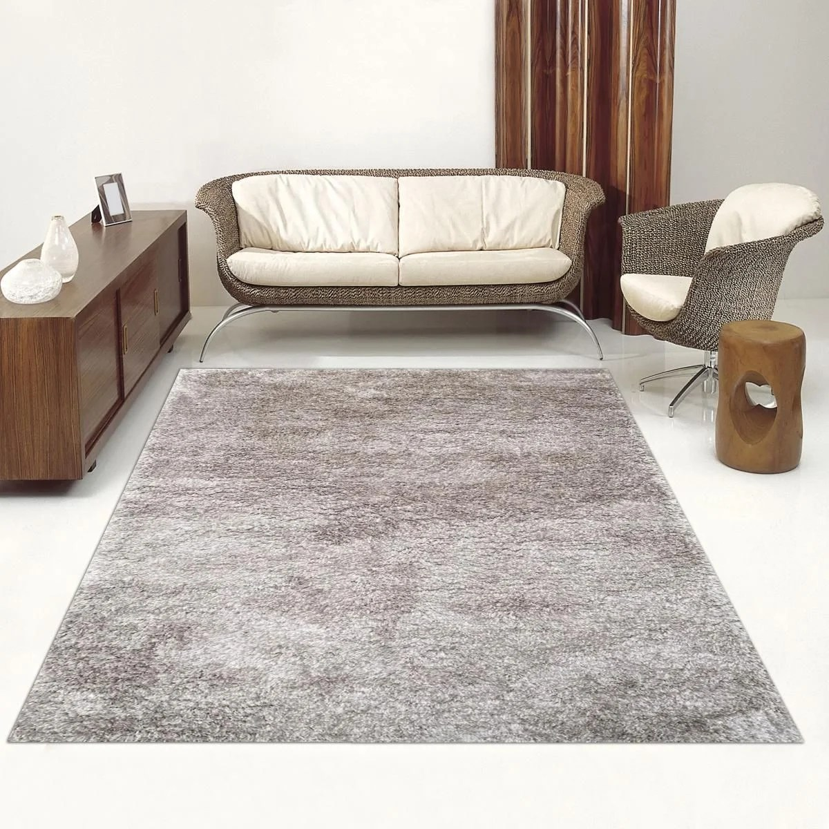 tapis shaggy poils long sg luxe