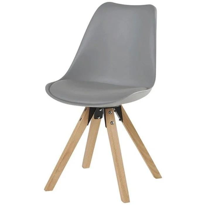 chaise scandinave capitonnee tony lot de 2