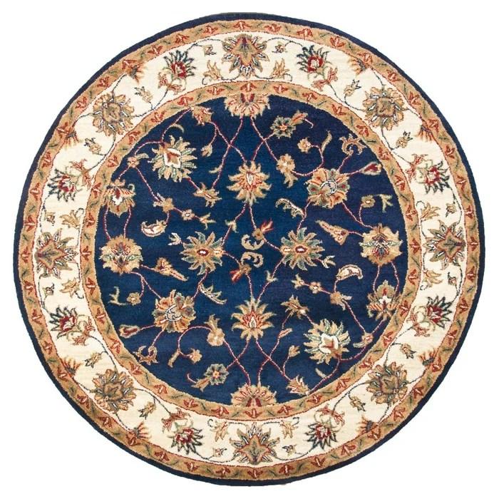 tapis tufte main royal ziegler en laine rond