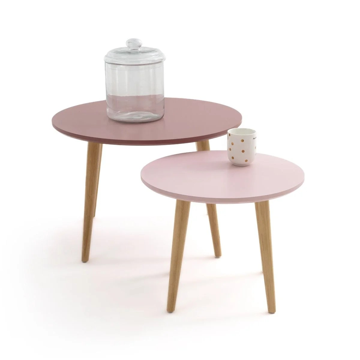 lot de 2 tables basses gigognes jimi