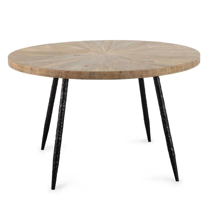 table a manger scandinave ronde bois metal