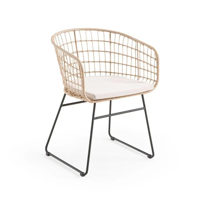 fauteuil de jardin en resine tressee rubis