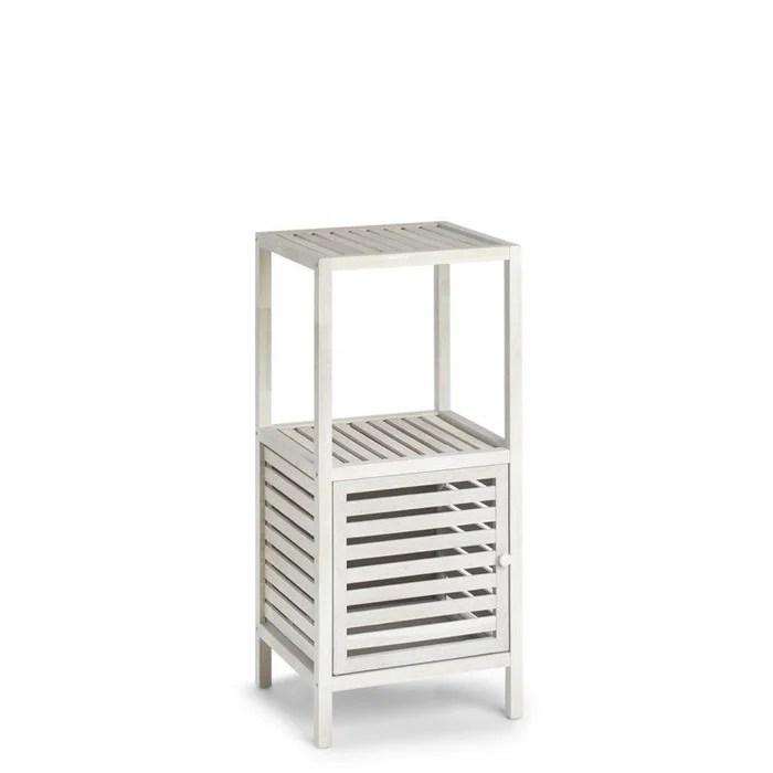meuble d appoint salle de bains colonne bois ajoure