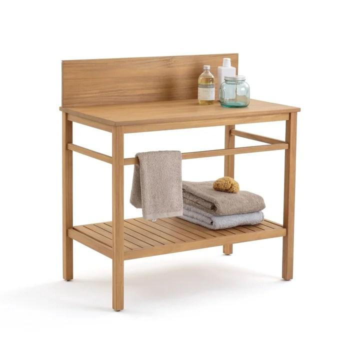 meuble sous vasque mercure acacia 90 cm