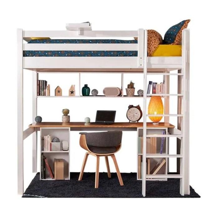 lit mezzanine avec bureau orphee