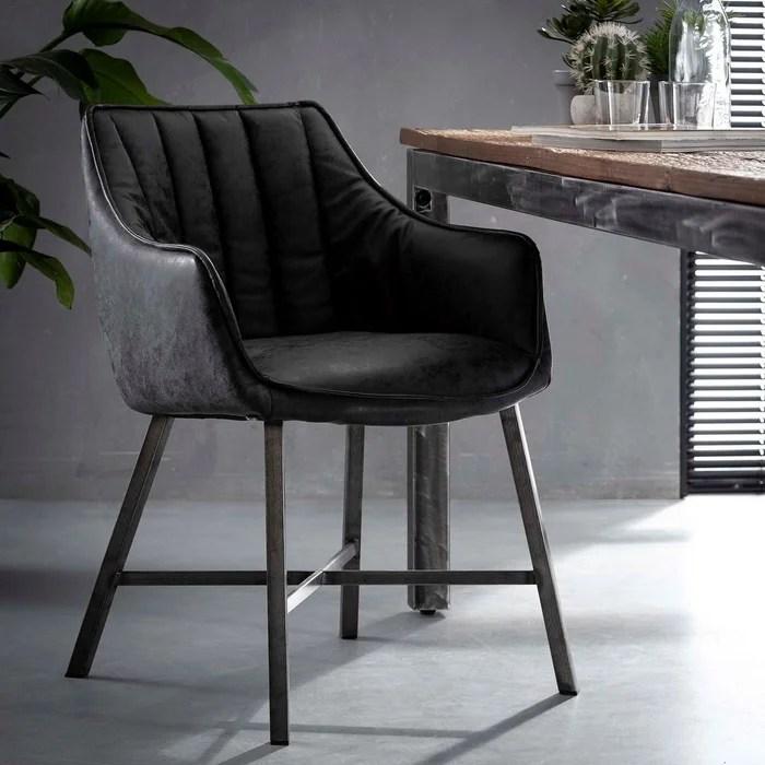 fauteuil de table rembourre avec accoudoirs style contemporain melbourne