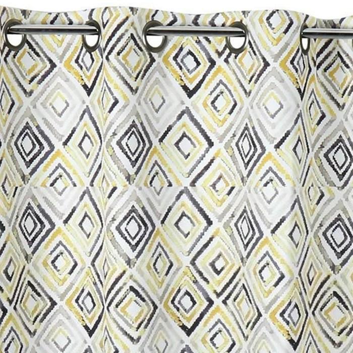 rideau obscurcissant motifs geometriques losanges