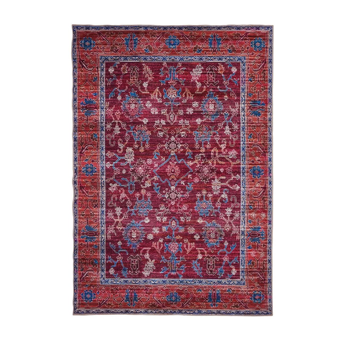 tapis ethnique pour salon rouge berbere greco