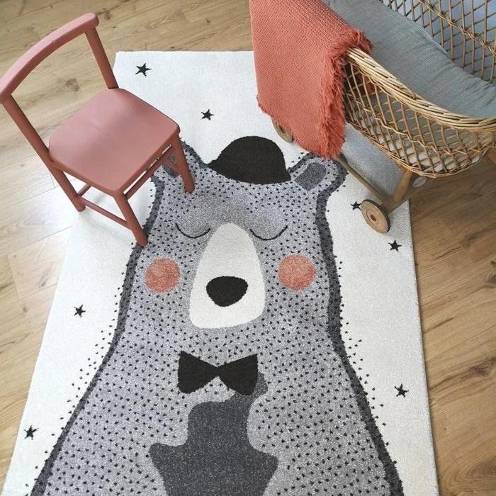 tapis bebe design ourson nino cree par nattiot