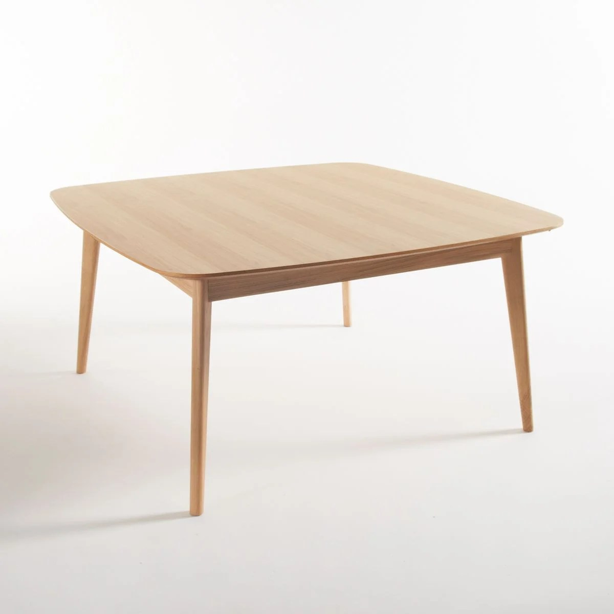 table a manger chene carree 8 couverts biface