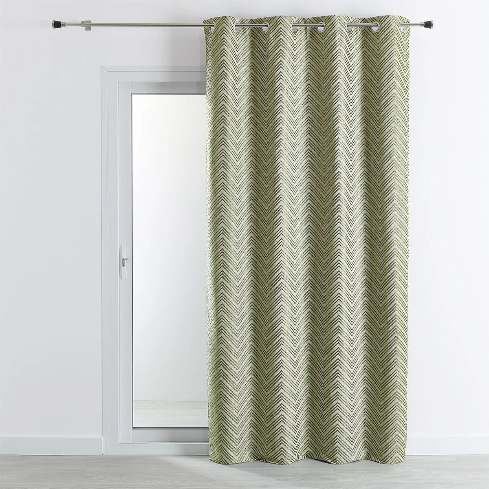 rideau d ameublement jacquard motif chevrons 140x260 cm